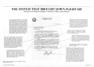 [Annotation] | The System That Brought Down Flight 655, by Alexander Cockburn and Ken Silverstein