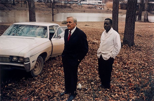 """Untitled (Sumner, Mississippi, Cassidy Bayou in Background),"" by William Eggleston"