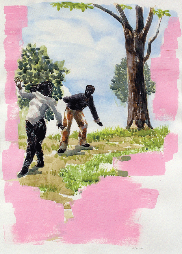 Study for Vignette 15, a painting by Kerry James Marshall