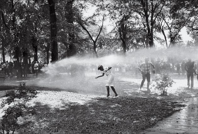 Firemen turn their hoses on protesters, Birmingham, Alabama, 1963 © Bruce Davidson/Magnum Photos