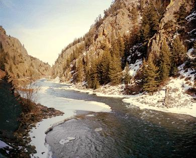 A canyon of the upper Colorado River along the California Zephyr line.