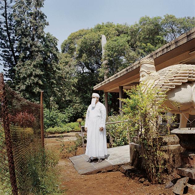 Darayus Bajan, a Parsi priest, at Doongerwadi