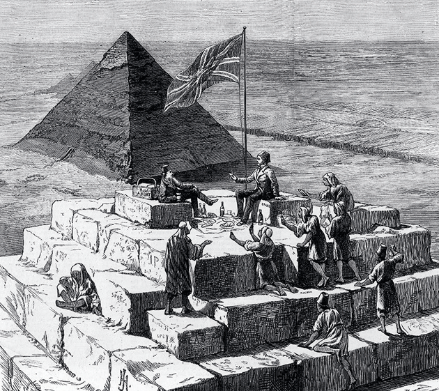 British tourists in Giza, 1874 © Illustrated London News Ltd./Mary Evans Picture Library