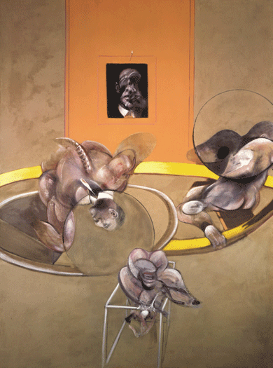 Three Figures and a Portrait, 1975, by Francis Bacon © The estate of Francis Bacon/DACS, London/ARS, New York City/Art Resource, New York City
