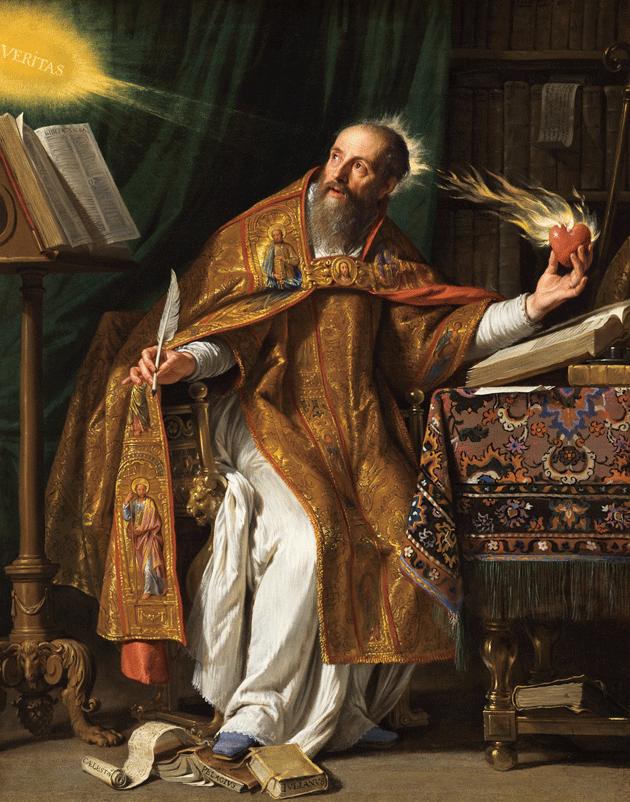 Saint Augustine, by Philippe de Champaigne. Courtesy Los Angeles County Museum of Art