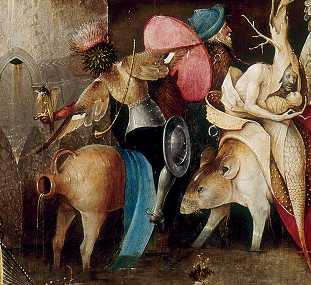 Detail from the center panel of Temptation of St. Anthony, c. 1500 © RMN-Grand Palais/Art Resource, New York City