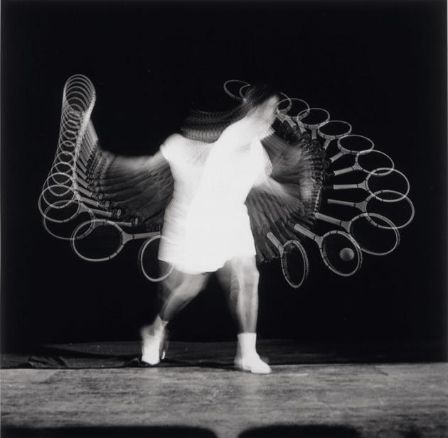 """Pancho Gonzales,"" 1949, by Harold E. Edgerton © Smithsonian American Art Museum, Washington/Art Resource, New York City/MIT. Courtesy MIT Museum and Gus Kayafas/Palm Press"