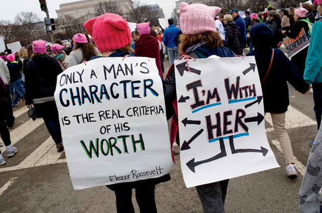 At the Women's March on Washington © Andrew Lichtenstein/Corbis via Getty Images