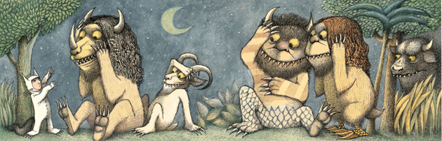 A panel from Where the Wild Things Are. All artwork © Maurice Sendak. Courtesy HarperCollins
