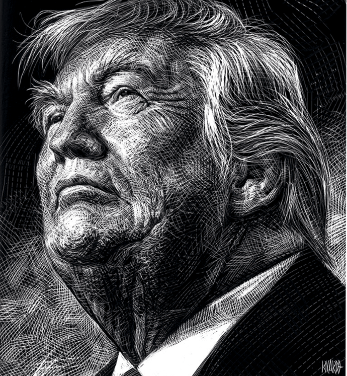 donald trump Illustration by Ricardo Martínez