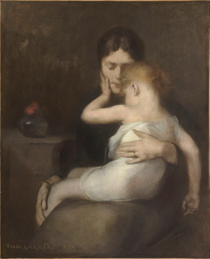 The Sick Child, a painting of Madame Eugène Carrière and son, Léon, by Eugène Carrière Courtesy Musee d'Orsay, Paris © RMN-Grand Palais/Art Resource, New York City