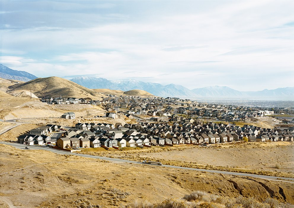 """Untitled, (Housing development), Near Draper, Utah,"" a photograph by Victoria Sambunaris, whose work is on view this week at Yancey Richardson, in New York City."